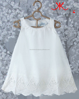 Baby Bucket Leg Lace Dress Fashion White