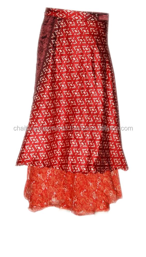 59ec25098fce53 Réversible Deux Couches Indien Vintage Soie Magie Wrap Jupe - Buy Jupe  Portefeuille,Jupe Portefeuille Sarong,Jupes Longues Indiennes Product on ...
