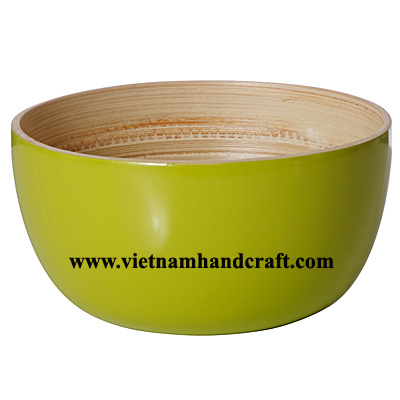 Importers Of Lacquerware Products In Lime Green U0026amp; Natural Bamboo Color