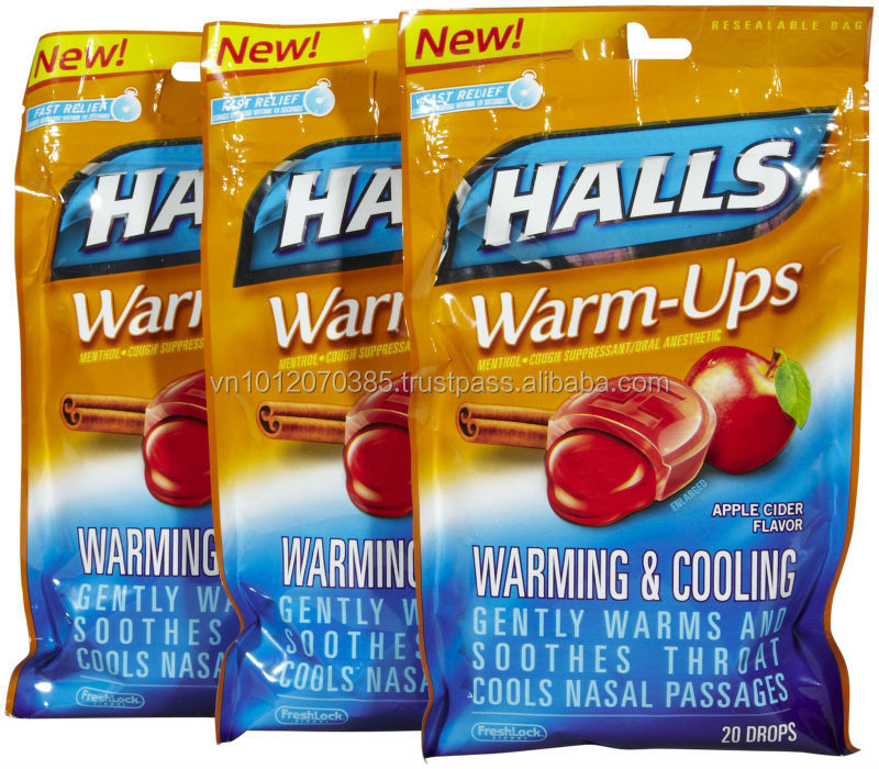 Halls Warm-ups Chewing Gum Fmcg Products - Buy Halls Chewing Gum,Cool Air  Chewing Gum,Energy Chewing Gum Product on Alibaba com