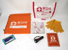 Portable survival kit with LED emergency lighting for earthquakes