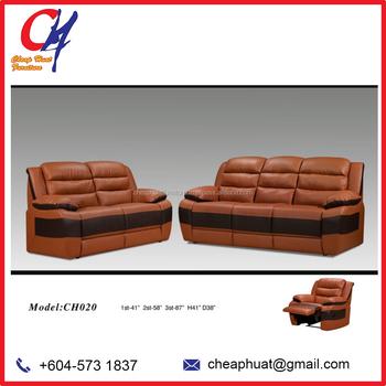 Malaysia Living Room Leather Sofa Furniture Set CH 020