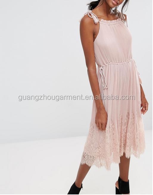 d9ebb7785b8 Summer White Lace Trim Ladies Short Sleeve Knee Length Vintage T-shirt Dress