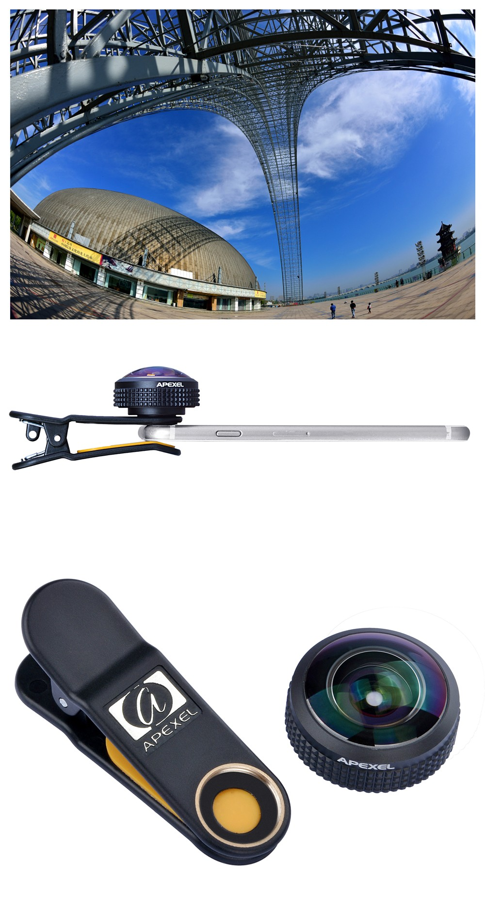 newest ee4c4 d7beb Apexel 8mm Fisheye Lens 238 Degree Super Wide Angle Cell Phone Camera Lens  For Iphone 6s Plus - Buy Fisheye Lens 238 Degree,Apexel Fisheye Lens,Apexel  ...