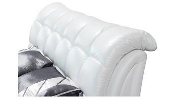 Letto Con Schienale Morbido : In vera pelle queen schienale alto moderno morbido letto con forte