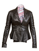 Women Ladies Fashion Stylish Premium Genuine Leather Jacket Coat-All Sizes