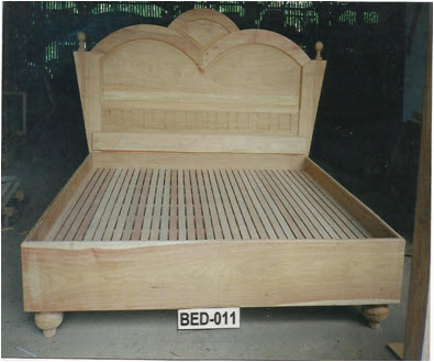 Solid Wooden Bed Selecting Different Wells