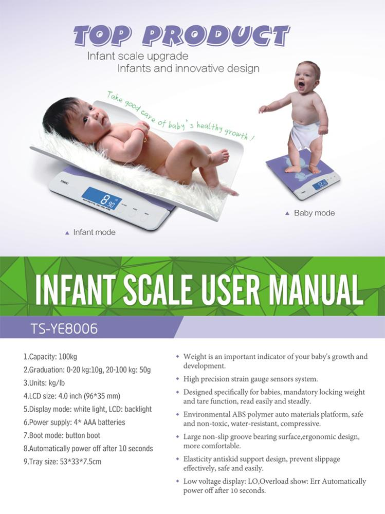 TS-YE8006 Accurate Digital Infant Weighing Scale With Low Price And High Quality