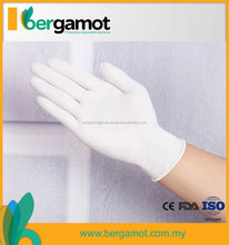 Exam Gloves Of Non-sterile Disposable Latex Examination Gloves