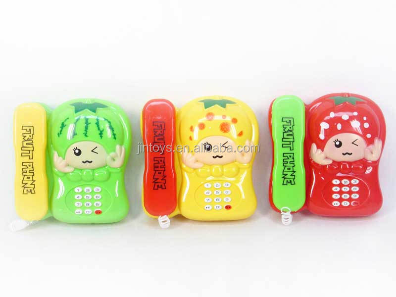 Newest mushroom telephone toys with light plastic colorful phone toy