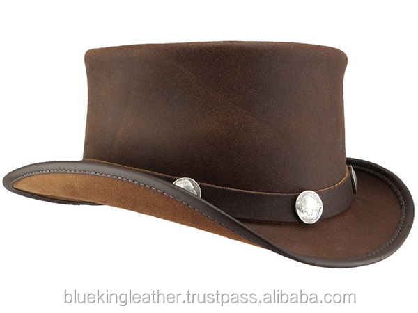El Dorado Real Cowboy Hat In Napa Leather Topper