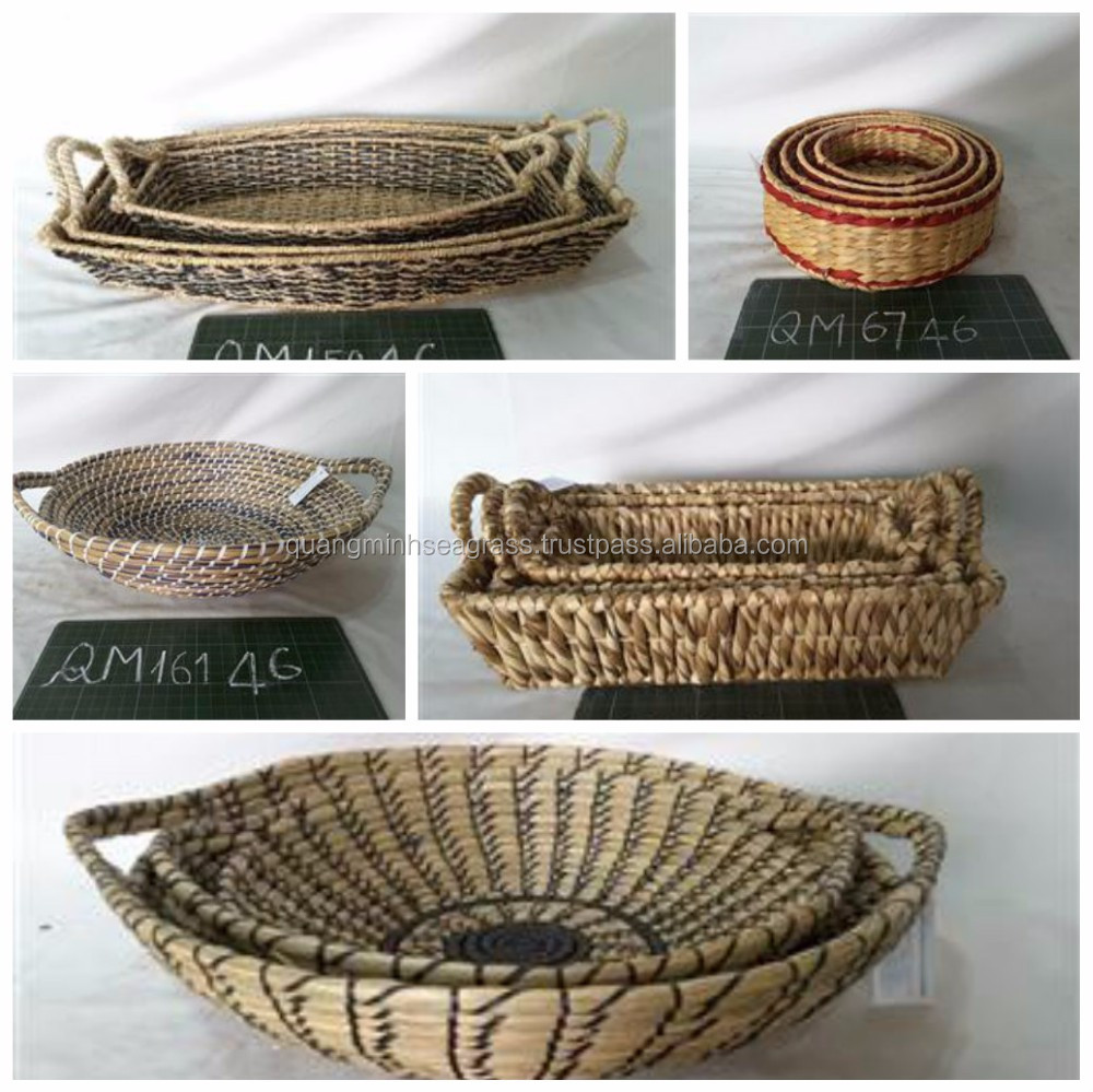 Colorful Foldable Seagrass Belly Basket Cheap Price