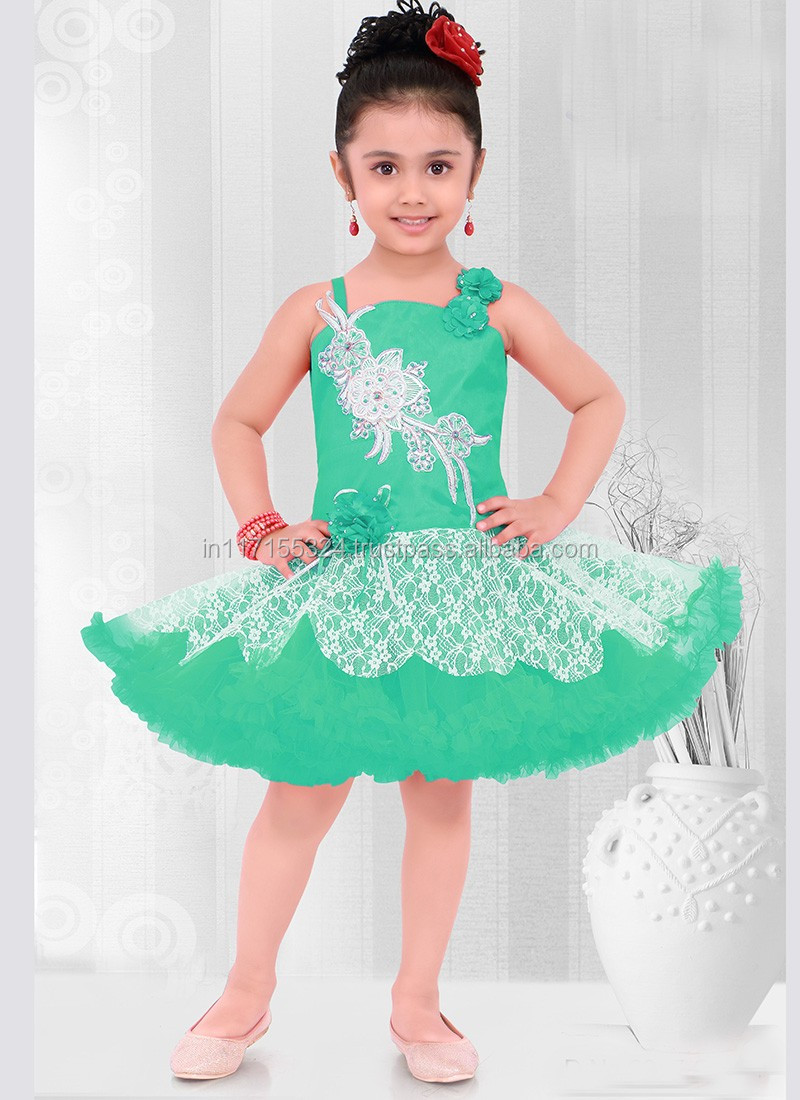 Factory Latest Beautiful Gold Girls Party Wear Dress Girls Dresses ...