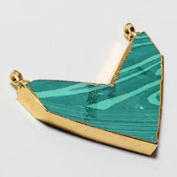 Zeva Exclusive Fashion New Chevron Shape Popular Pendant Charm, Unique Turquoise Stone Jewelry Wholesale Price zv1123