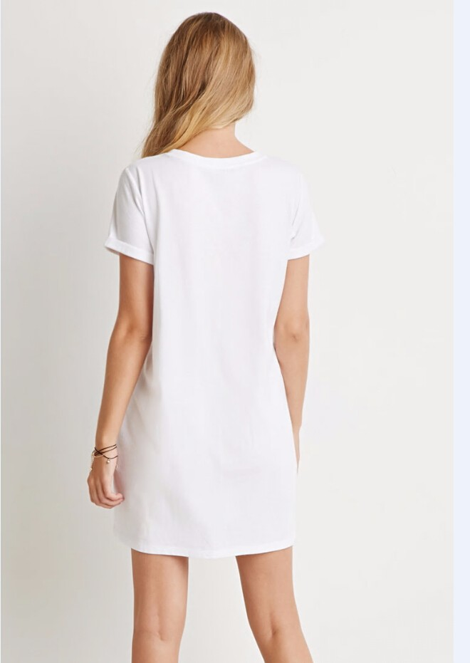 Plain white t shirt dresses in bulk