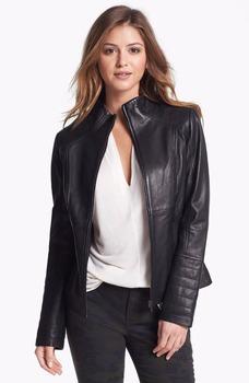 Women Fashion Wholesale Genuine Leather Jackets Ladies Girls ...