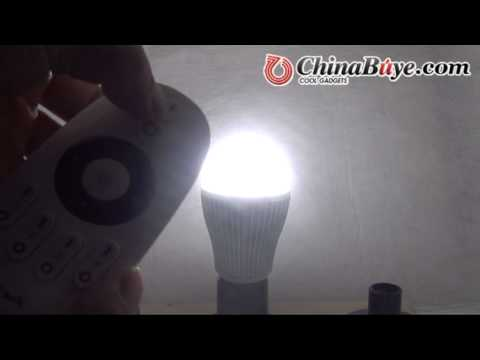 Color BIN Adjustable LED Light Bulbs w/ Color Temperature Remote Control