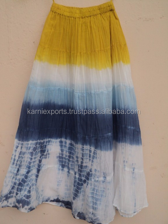 68d679e54b5 Tid & Dye Skirt Cotton Voile Fabric Best Quality Summer Indian Designer  Design Cute Skirts For Kids Girls - Buy Indian Designer Long Skirts,Indian  ...