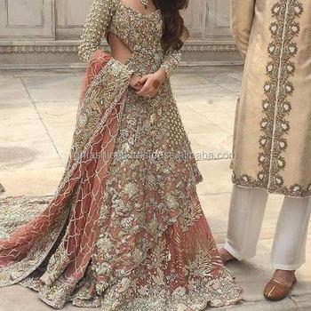 5b8aed3de6 New Pakistani Wedding Bridal Train Lehenga Choli - Buy New Pakistani ...