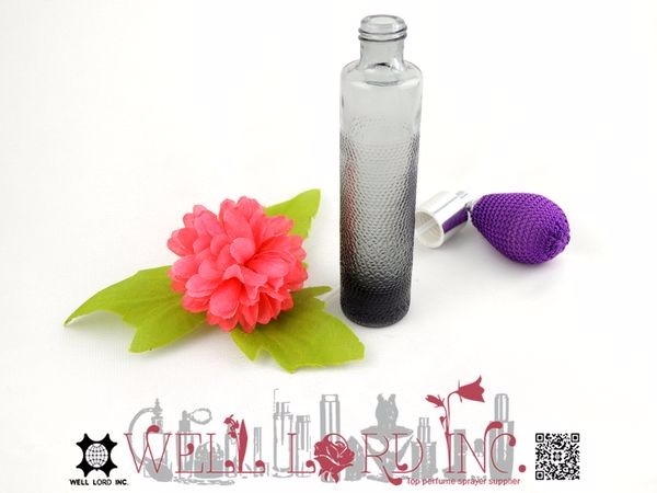 High quality bulb sprayer black matte 25ml glass bottle