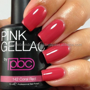 Color142 Coral Red/private Label/professional Gel Nail Polish/gel ...