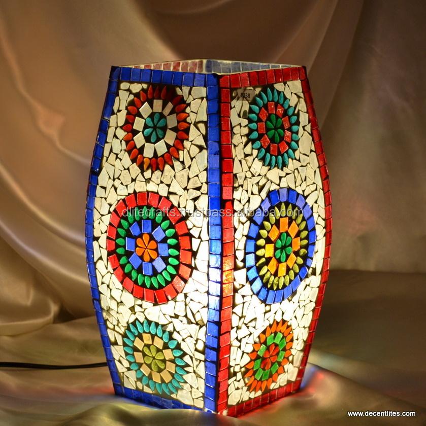 lamparas de mesa de cristal acabado de mosaico lmpara de mesa lmpara de mesa