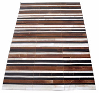 Hair-On Cowhide Leather Carpet M-73