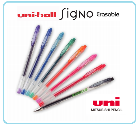 0.5mm ball erasable gel pen , UNI Signo UM-101ER , reasonable price and Japan high quality