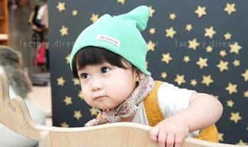 Antibacterial cotton Anti dust Toddler beanie Korea 100% cotton beanie Baby  hat Anti dust baby 3205a12b387