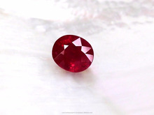 Grade AAA+ Oval Cut Red Natural Burma Ruby gemstone with excellent quality from Bangkok Thailand at great price per carat