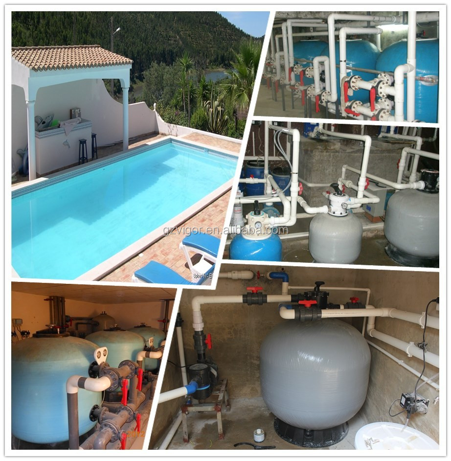Factory Economic Fiberglass Swimming Pool Sand Filter Water Filtration System Pool Wave