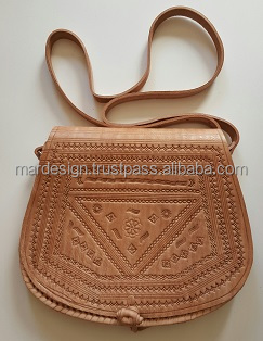 Mixed Bulk Of Moroccan Leather Bags - Buy