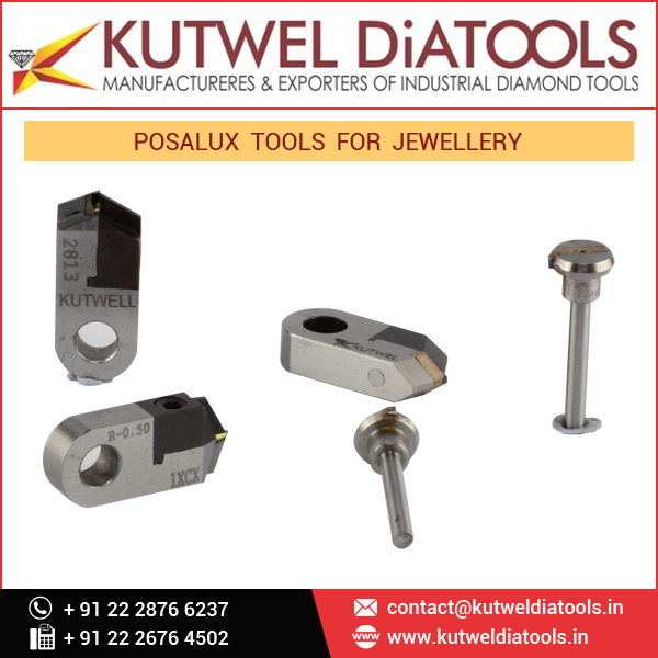 Posalux Diamond Tools Used in Jewelry Manufacturing and Engineering Cutting Industries