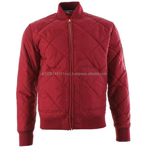 Red Padded Polyester Jacket Men