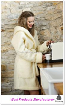 Ladies Dressing Gown 100 Wool Bath Robe Hooded Woolmark Buy Robe