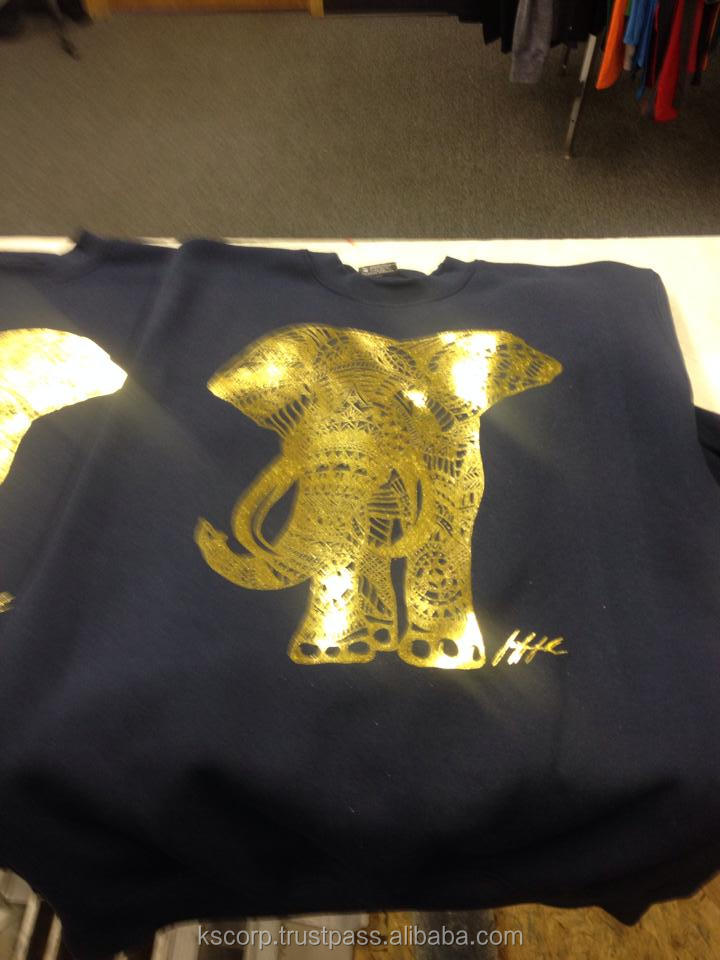 Custom Gold Foil Printed T Shirts Ks 321 Buy T Shirts With Gold