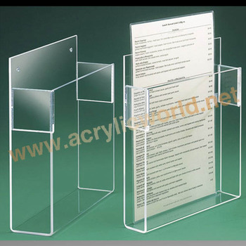 A3 A4 A5 Acrylic Brochure Holder Brochure Display Stand