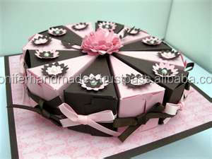 Pleasant Ribbon Embellished Slice Shaped Cake Boxes For Birthday Party Funny Birthday Cards Online Inifofree Goldxyz