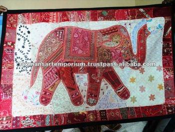 Elephant Wall Hanging indian wall hangings elephant patchwork - buy patchwork elephant