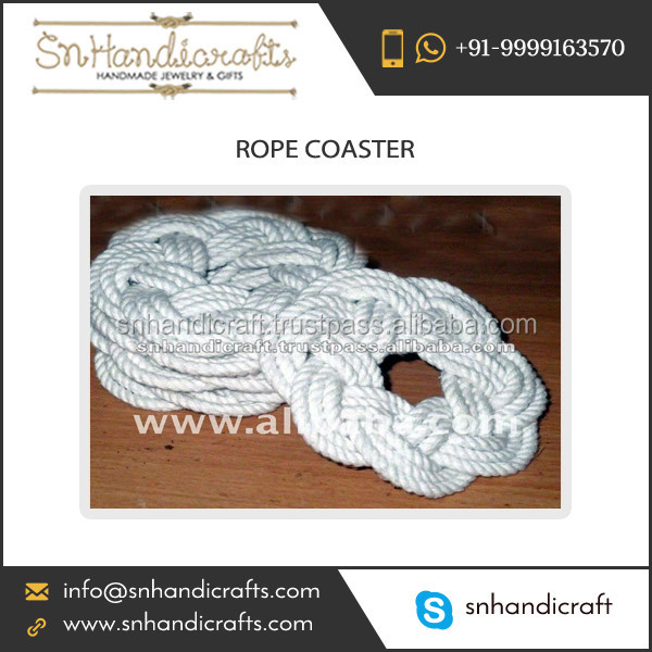 Latest Design Handmade Nautical Rope Coaster at International Trade Rate