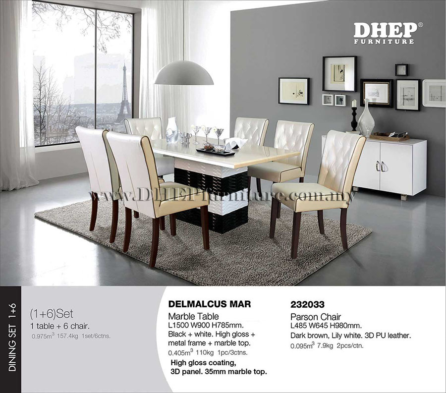 Modern Dining Set, Dining Room Furniture, High End Dining Set