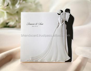 Original Bhands Card Bride And Groom Wedding Invitation Bh2069