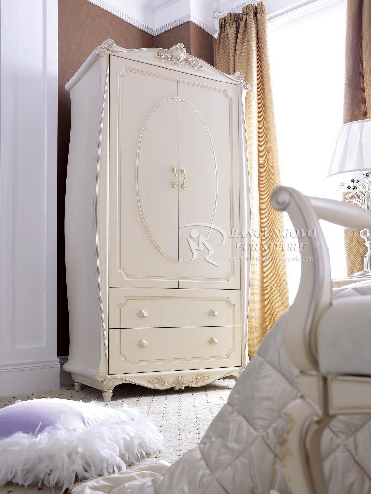 Antique white bedroom furniture european wooden wardrobe, View ...