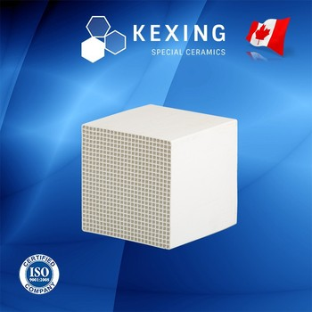 Compact Cordierite Honeycomb ceramic heat sink media for RTO RCO