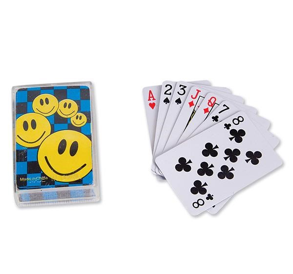 "2.5"" MINI SMILELY FACE PLAYING CARDS"