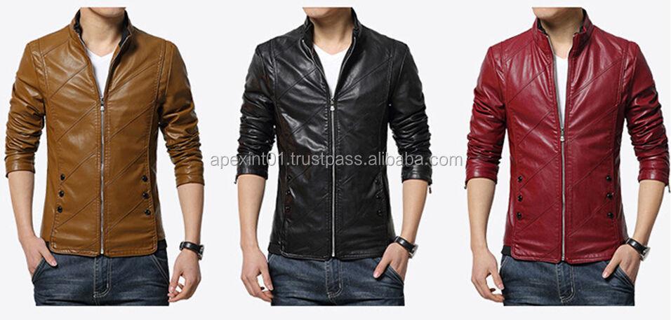 51387fc28e Factory direct clothing men s coat wholesale leather jacket for men-Men leather  jackets