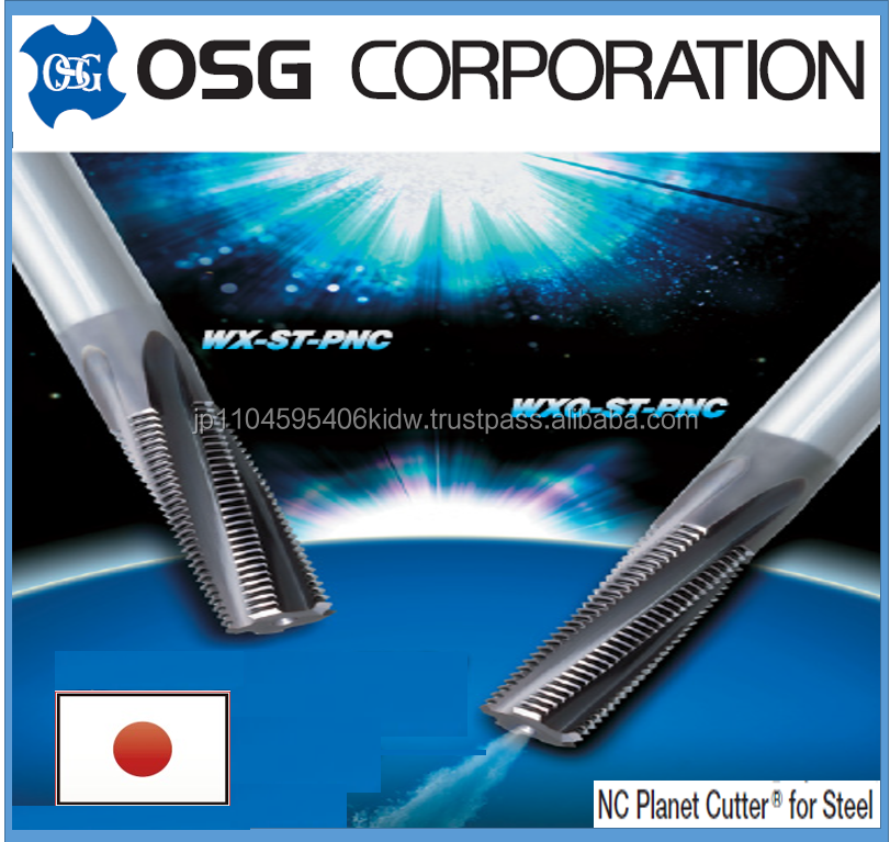 Durable and Reliable milling parts OSG tap made in Japan
