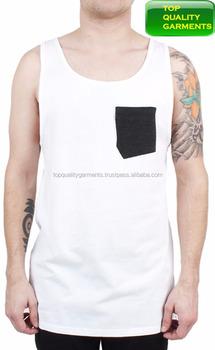 22a6a0b63212e White Mens Boys Tank Top Plain Sando Workout Pocket Fit Singlet Sleeveless  Logo Print High Quality