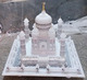 Beautiful White Marble Taj Mahal Model