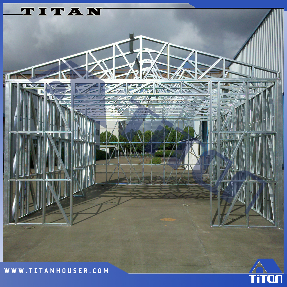 Pre Engineered Modular Galvanized Steel Frame For Farm